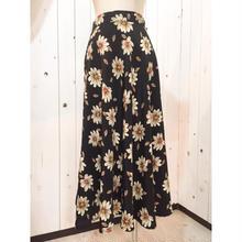 Vintage ~1980's  花柄 フレアスカート/古着 ビンテージ