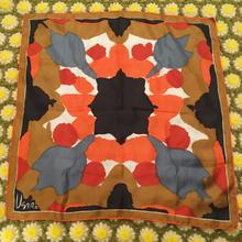 vintage vera 総柄 シルク くすみカラースカーフ/古着 ビンテージ
