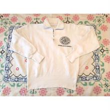 60s~ sports wear  ホワイト ハーフジップ ビンテージスウェット/古着 vintage