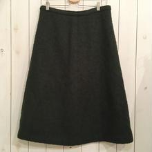 vintage モスグリーン シンプル 台形 スカート/古着 ビンテージ