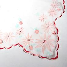 1950s~ vintage 花柄 フロッキープリント ナイロン ハンカチ/古着 ビンテージ