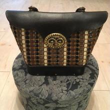 60s vintage エニッドコリンズ enid collins 真鍮 フクロウ ハンド バッグ/古着 ビンテージ