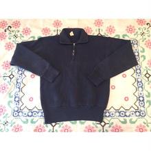 60s~ sports wear  ナス紺 ハーフジップ ビンテージスウェット/古着 vintage