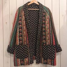 花柄 × ゴールドスタンプ キルティング デザインジャケット/古着 ビンテージ