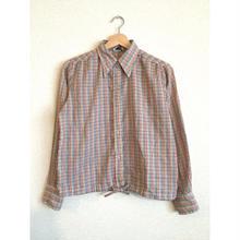 ~70s コットン チェックシャツ/古着 ビンテージ vintage