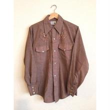 70s~ 刺繍 ウエスタンシャツ/古着 ビンテージ vintage