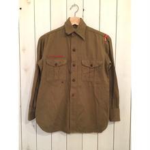 ~40's SWEET-ORR チェンジボタン コットンボーイスカウトシャツ マチ付き/古着ビンテージ