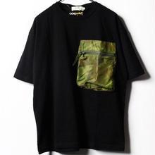 コーデュラナイロン迷彩パッカブルポケット半袖Tシャツ