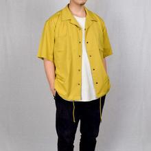 ドライストレッチ 半袖 オープンカラー コーチシャツ