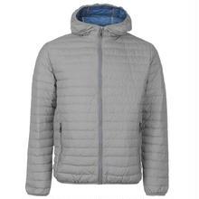 英国直輸入カリマー  フード付きダウン 色:グレー Karrimor Hooded Down Jacket Mens Colour:Grey