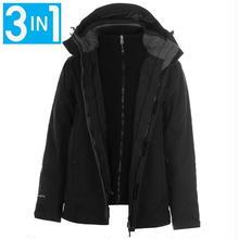 英国直輸入カリマー 3 in 1 ジャケット 色:黒 Karrimor 3 in 1 Weathertite Jacket Mens Colour:Black
