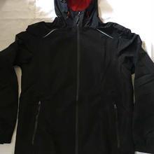 400 欧州CRIVIT ハードシェル完全防水透湿マウンテンジャケット黒XL