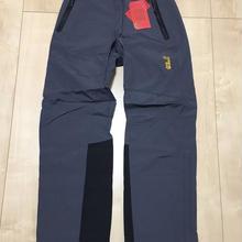 636 Jack Wolfskin ハードシェル完全防水止水ジッパー パウダースカート付き スノーパンツ グレー