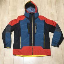 578  海外アウトドアメーカー 防水透湿シェル&ダウン2in1ハードシェルジャケット 青/オレンジ 105L