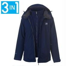 英国直輸入カリマー マウンテンジャケット 色:ネイビー/チャコール Karrimor 3 in 1 Weathertite Jacket Mens Colour:OxfordNavy/Char