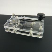 透明台座縦ぶり電鍵 (Clear Base Manual Keyer)