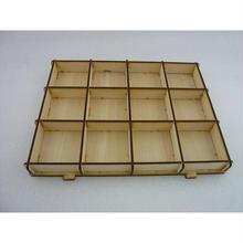 木製パ-ツケ-スキット(組立式)12個区切り ( WOOD PARTS CASE KIT )