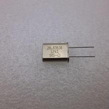 28.63636MHz HC-49U Type 水晶振動子   (X'TAL 28.63636MHz HC-49U TYPE)
