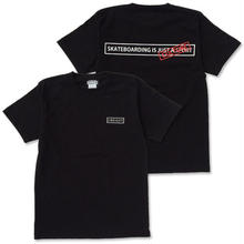 "CREIGHT ""SKATEBOARDING IS CULTURE TEE"" / BLACK"