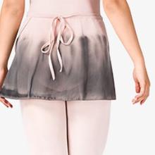 WaterColour グラデーション巻きスカート バレエピンク×ブラック