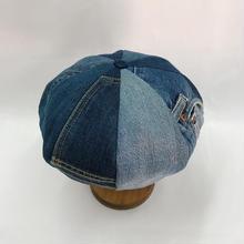 Old denim beret