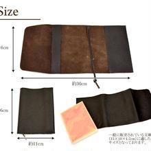 100%正規■ 本革ブックカバー 文庫本サイズ 牛革 2色 ブラック&ブラウン ■品質保証 返品可能