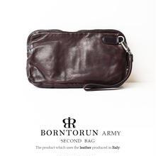 BORNTORUN ARMY  ダブルファスナーセカンドバッグ
