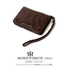 BORNTORUN ARMY  ストラップ付二つ折り短財布