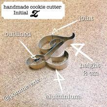 Initial  Z  cookie cutter