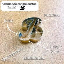 Initial  B cookie cutter