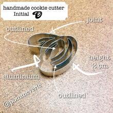 Initial  O  cookie cutter