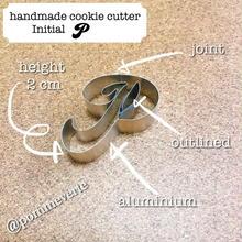Initial  P   cookie cutter