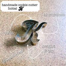 Initial  K  cookie cutter