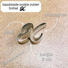 Initial  X  cookie cutter
