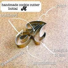 Initial  A   cookie cutter