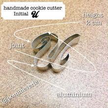 Initial  U  cookie cutter