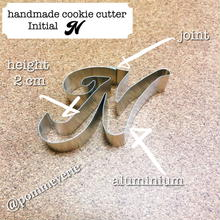 Initial  N  cookie cutter
