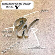 Initial  W  cookie cutter