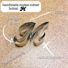 Initial  M  cookie cutter