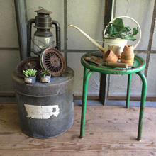 ガーリーに使う GREEN  SHABBY POT  STAND