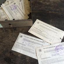1940年代のアメリカのガス電話会社の書類