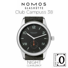 NOMOS GLASHUTTE Club  Campuss 38(クラブ キャンパス 38)ナイト / シースルーバック (CL1A1BL238CP)  のコピー  のコピー
