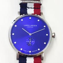【Fortune Square 特別モデル】LARS LARSEN LW32 ナイロンストラップバージョン 交換用レザーベルト付  ブルー/132SDDZ N3