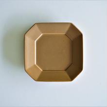 角小皿  モカブラウン