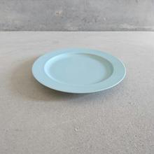 15㎝リム皿   ミントブルー