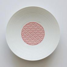和モダン 15㎝皿 赤 青海波