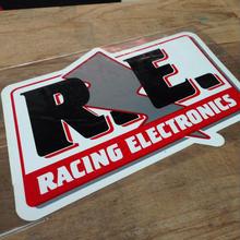 R.E sticker
