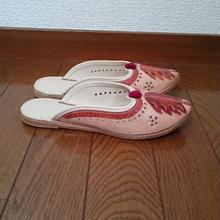 バブーシュ風革サンダル 36