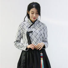 現代チョゴリ+チマ(スカート) ブラックレースセット