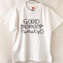 GOOD MORNING nemuiyo Tシャツ / ホワイト(NV)